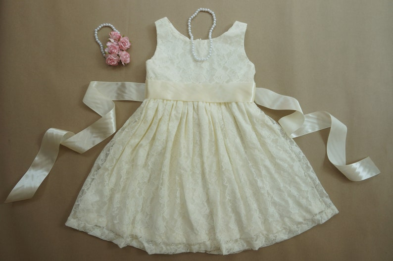 373ccf609cb4 Lace ivory flower girl dress Toddler lace dress Ivory lace | Etsy