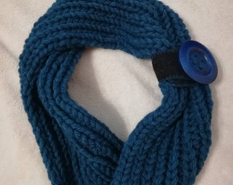 Scarf-Mixed wool neck