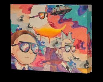Rick Morty Canvas Etsy