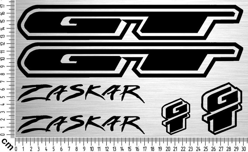 GT ZASKAR Sticker Set  6-piece bike frame sticker for rebuild image 0