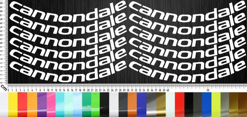 CANNONDALE BIKES 02 Planner Stickers Set 12-piece image 0