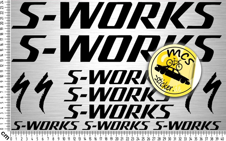 S-Works by specialized Bikes 02 Sticker Set  12-Part bicycle image 0