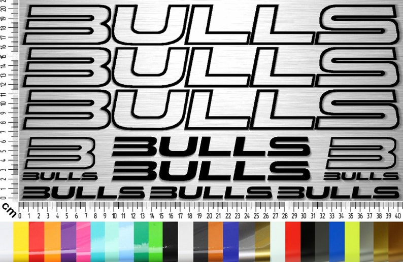 Bulls Bikes 01 Sticker Set 10-piece bicycle frame sticker for image 0