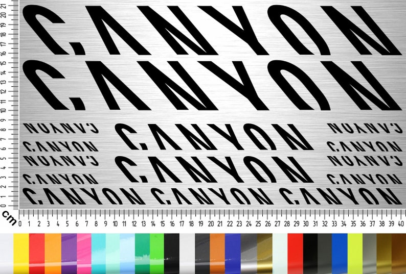 Canyon Bikes Sticker Set 15-piece bicycle frame sticker for image 0