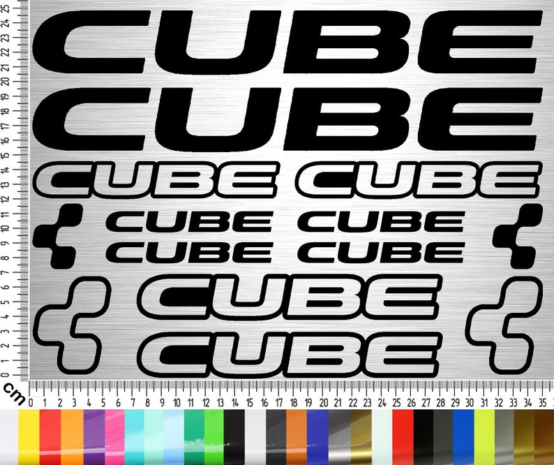 CUBE BIKES Sticker Set 03  14-piece bike frame sticker for image 0