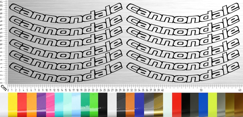 CANNONDALE BIKES 01 Sticker Set 12-piece 2627.52829 inch image 0