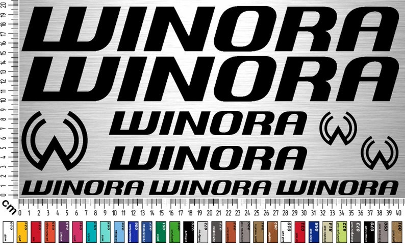 WINORA Sticker Set 2  10-piece bike frame sticker for rebuild image 0