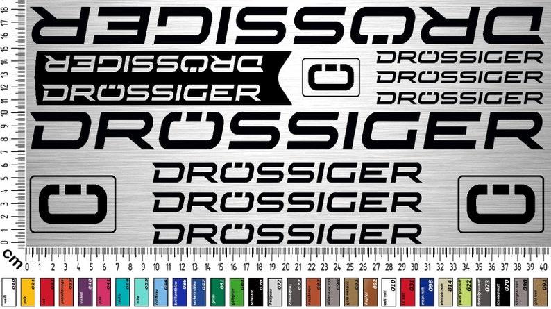 DRÖSSIGER BIKES Sticker Set  12-piece bike frame sticker for image 0