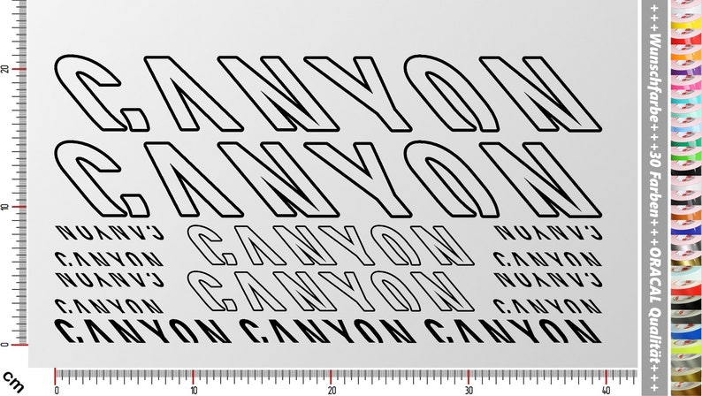 CANYON BIKES Sticker Set 1  15-piece bike frame sticker for image 0
