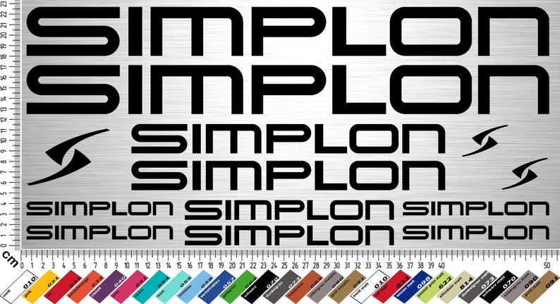 SIMPLON Sticker Set 2  13-piece bike frame sticker for image 0