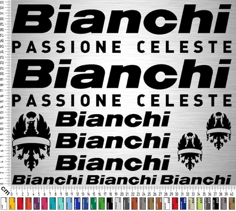 Bianchi Bikes 02 Sticker Set 13-piece bicycle frame sticker image 0