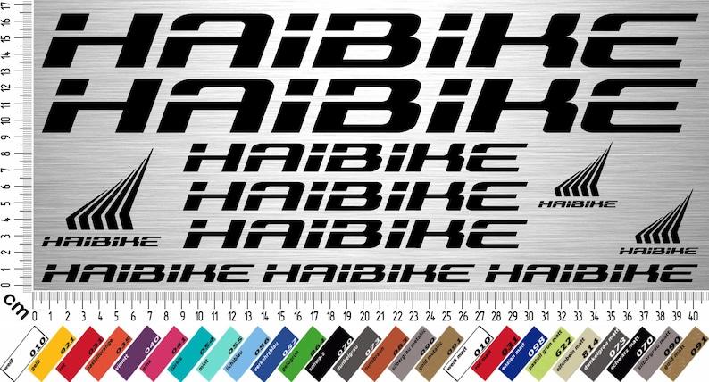 Haibike Sticker Set 2 11 Piece Bike Frame Sticker For Rebuilt Repair 11 Decals Bike Frame Sticker For Restoration