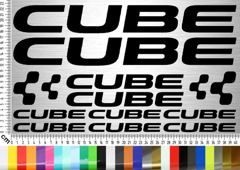 CUBE BIKES Sticker Set 04  14-piece bike frame sticker for image 0