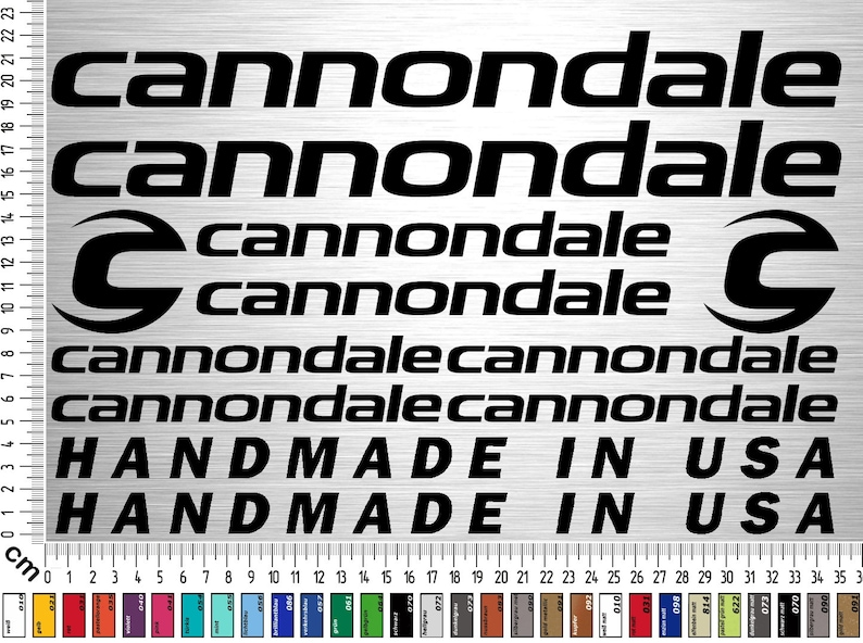 Cannondale Bikes 02 Sticker Set 12-piece bicycle frame sticker image 0