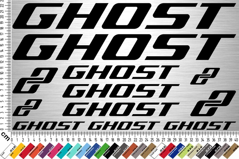 GHOST BIKES Sticker Set 3  12-piece bike frame sticker for image 0