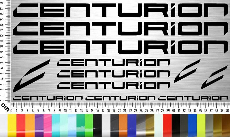Centurion Bikes Sticker Set 12-piece bicycle frame sticker for image 0