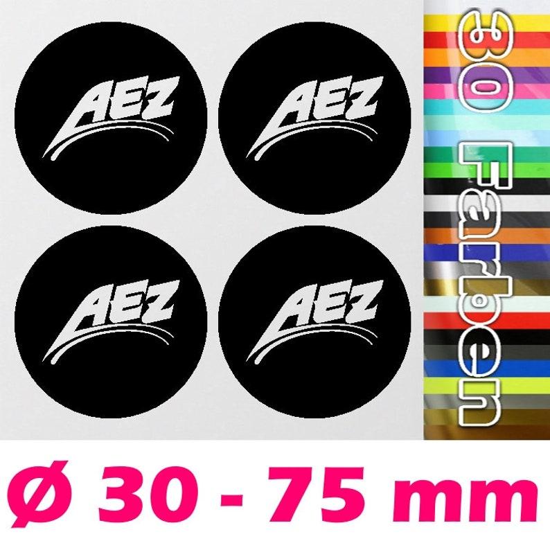 4 Aez hub cap Rim Sticker  Alloy rims Emblem Logo Sticker  Ø image 0