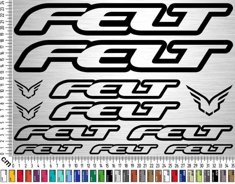 FELT BIKES Sticker Set 01  12-piece bike frame sticker for image 0