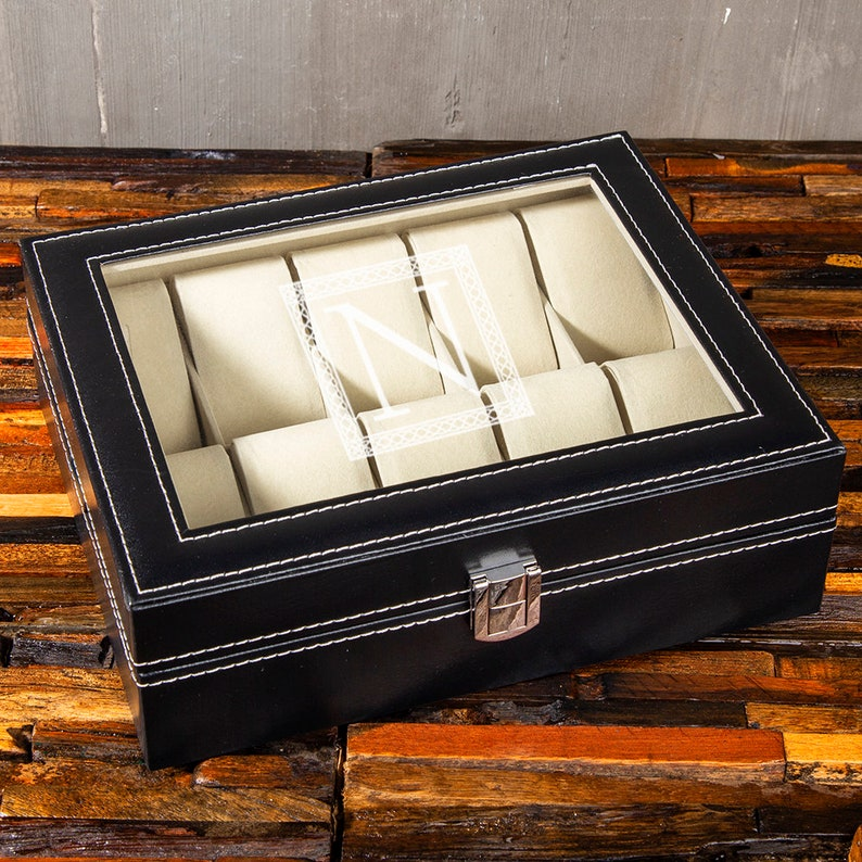 Groomsman Gift Groomsmen Gifts Personalized Watch Box 10 Slots Best Man Gift
