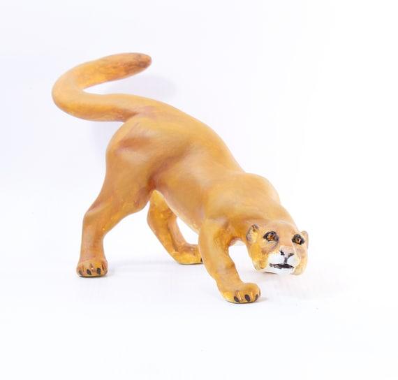 Figurine Cougar Puma Home Decor   Etsy