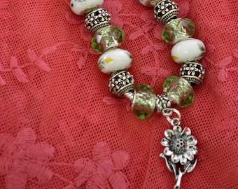 bracelet, sunflower Pandora