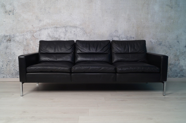 wilkhahn 3 sitzer ledercouch sofa 60er 70er jahre. Black Bedroom Furniture Sets. Home Design Ideas