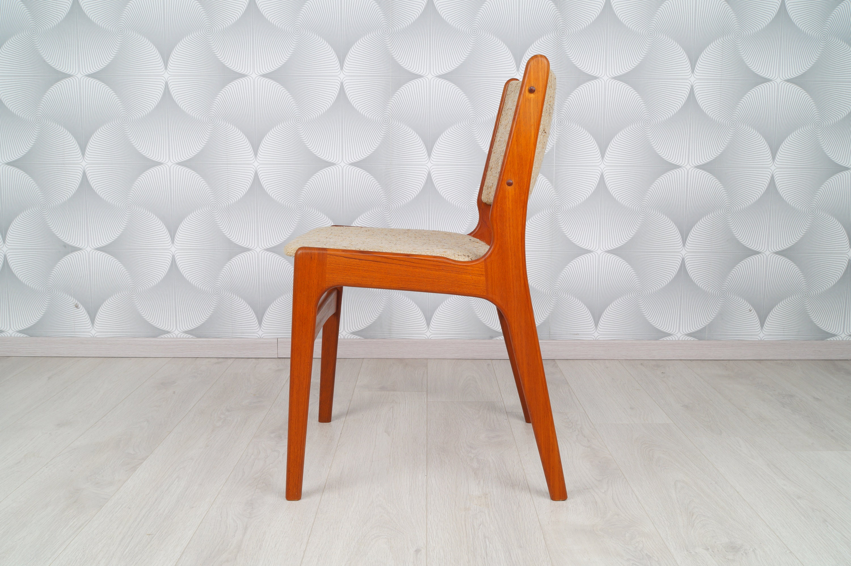 4 Set Danish Teak Dining Room Chairs 60s 70s Eric Book