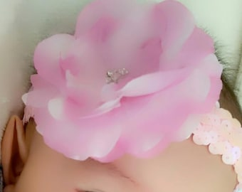 Baby head band, infant head band, sequins head band