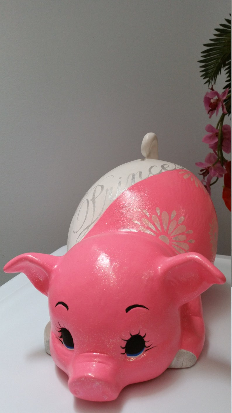 piggy bank baby bank Personalized girls piggy bank girls piggy bankceramics piggy bankBaby giftBaby shower gift princess piggy bank