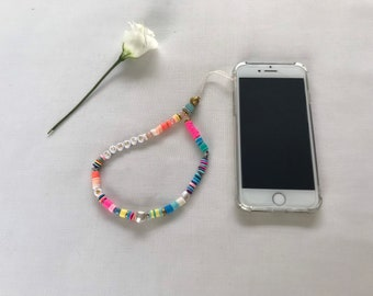 "Phone cord/jewel ""Summer"""
