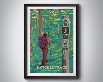 Natchez Trace Woods-8 x 10\u201d Ltd Ed Giclee print of original painting in 13 x 16\u201d frame