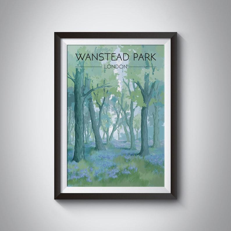 Wanstead Park Poster London Travel Print Wanstead Flats image 1