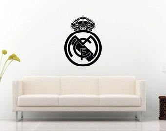 Real Madrid Distintivo Calcio Portachiavi Fatto a Mano Taglio Laser
