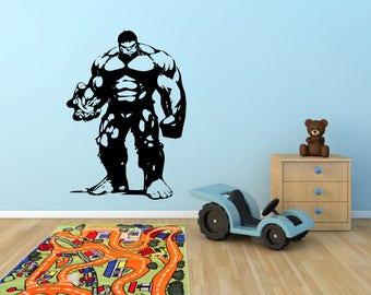 The #Incredible #Hulk Wall Art Vinyl Decal Sticker Stencil Marvel Comic