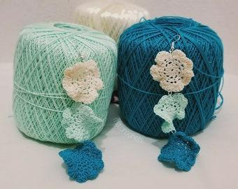 Flower Trio Crochet Earrings