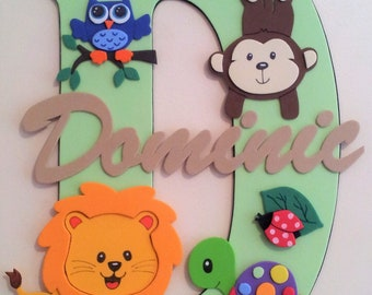 Personalised nursery room wall decoration, name plaques, signs