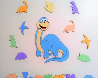 Personalised Dinosaur wall decoration