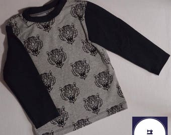 Monochrome Children's Tiger Tee