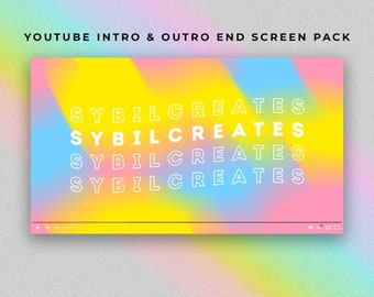 Abstract Vibes YouTube Intro and Outro End Screen Pack - Custom Animated Video - Video Editing - Artist Gamer Beauty Fashion Vlogger Vlog
