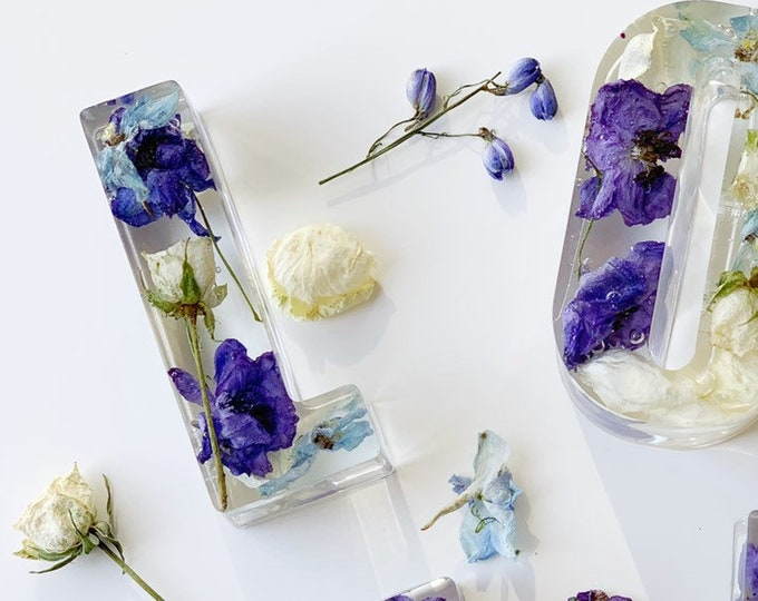 Featured listing image: Wedding flower preservation - large letter keepsakes
