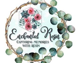 Wedding flower preservation cufflinks