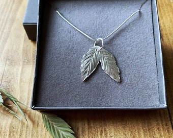Real memorial leaf memory pendant, pressed leaves, silver necklace, your own leaf, flower preservation