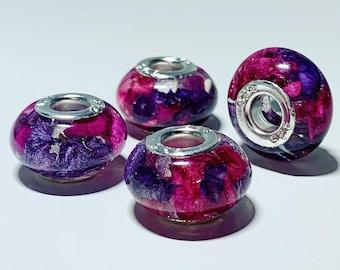 Wedding flower preservation - european charm bead