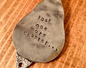 Hand Stamped Spoon Bookmark