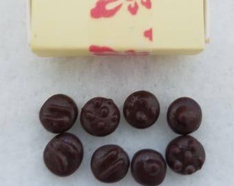 Dark chocolates, miniature food, clay food, sylvanian families, calico criters, dollhouses
