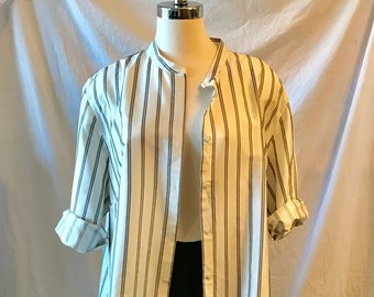 oversized 100% silk jacket or tunic