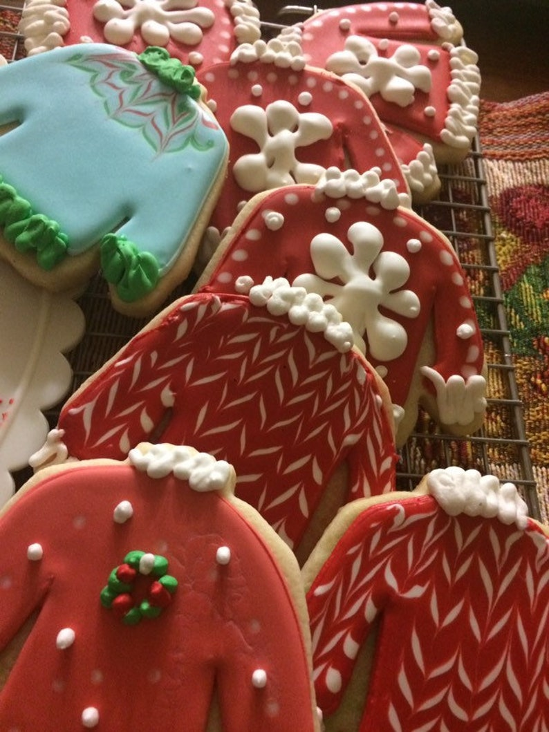 Ugly Sweater Christmas Cookies Edible Cookies Holiday Treats