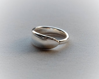 """Spoon Ring Sterling Silver """"Lasting Spring"""""""