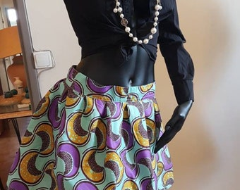 AFRICAN PRINT Mini skirt Office