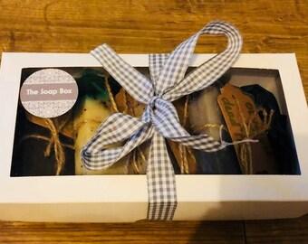 Soap Gift Set ~ Handmade Olive Oil Soap ~ Gift ~ Soap bars x4